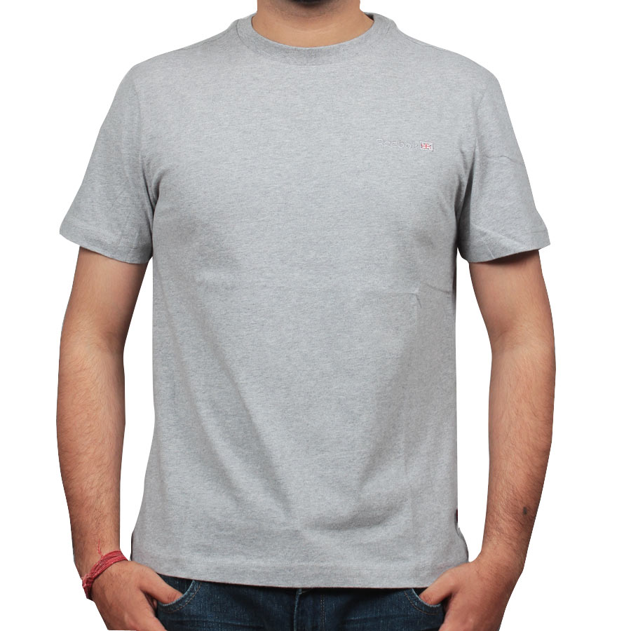 0ebc193b411 Plain round-neck tshirt-Grey