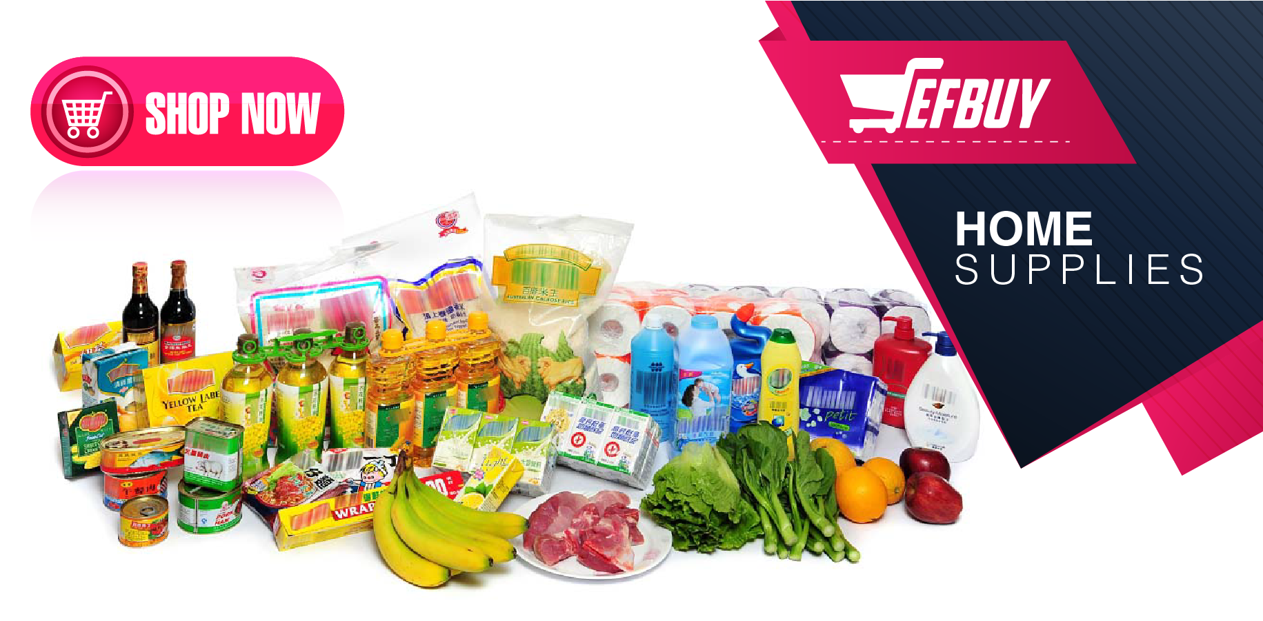 Supermarket supplies.