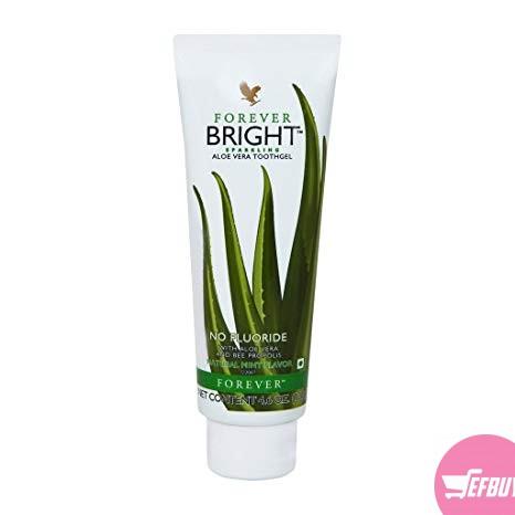 Forever living bright aloe vera toothpaste.